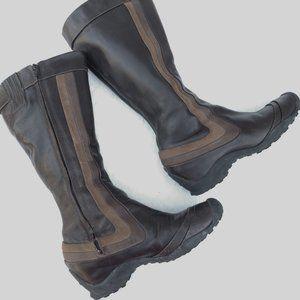 Merrell Eden Peak brown leather knee high boots